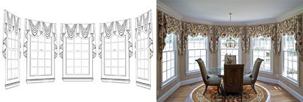Empire Valances for Breakfast Room